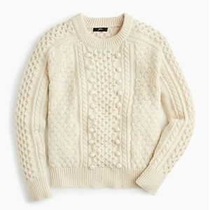 J.Crew Popcorn cable-knit sweater-K5311-natural